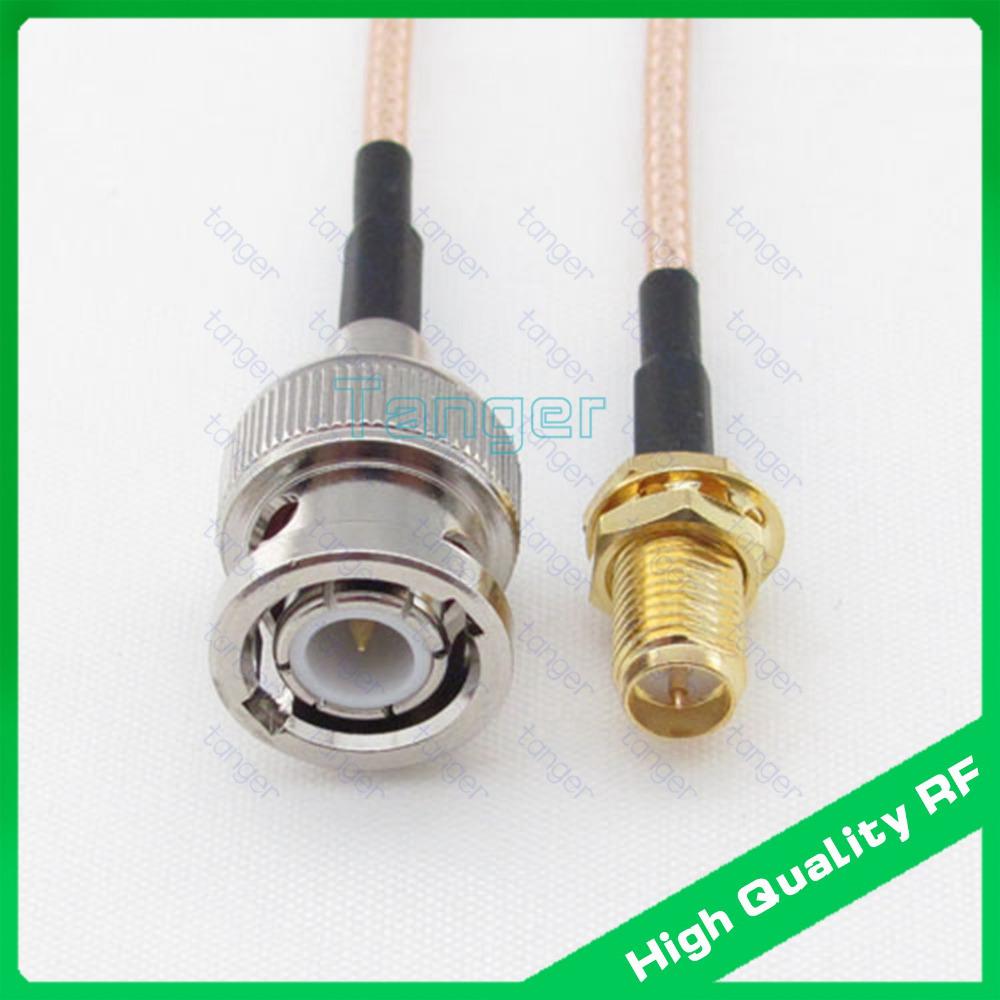[해외]RP-SMA 여성 스트레이트 connector8in의 20cm RG316 RF 동축 피그 테일 케이블 및 고품질의 저손실 탕헤르에 BNC 남성 플러그/BNC male plug to RP-SMA female straight connector8in 20cm RG31