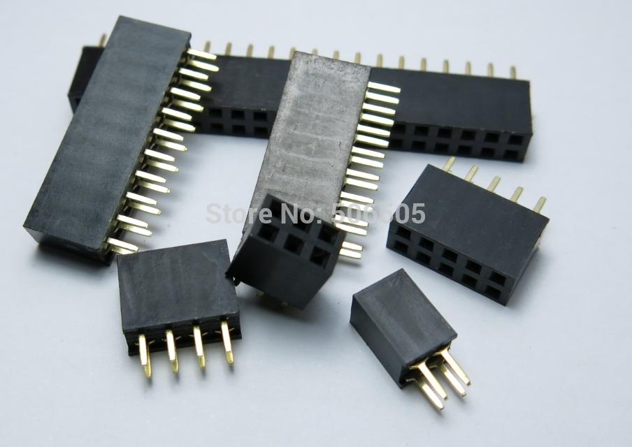 [해외] 더블 행 라인 콘센트 여성 2.54 MM 간격 리본 케이블 소켓 20PCS / 많이 9Pins/Free shipping 9Pins Double row line socket outlet Female 2.54 MM spacing ribbon cable socket