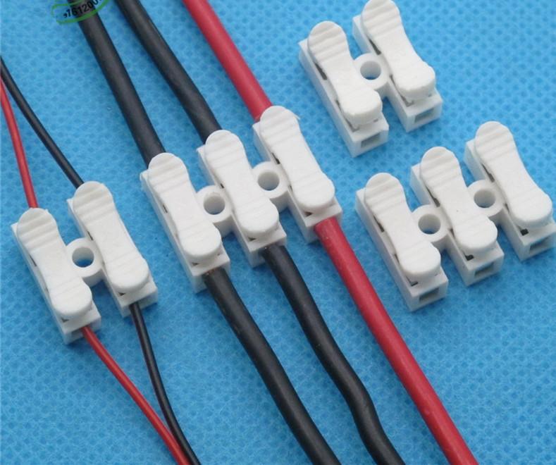 [해외]10x 3pin 스프링 커넥터 와이어 노 용접 나사 없음 빠른 커넥터 케이블 클램프 단자 블록 3 Way Easy Fit for led strip/10x 3pin Spring Connector wireno welding no screws Quick Connect