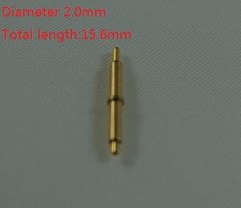 [해외]10pcs 봄로드 포고 핀 커넥터 지름 2.0mm 15.6m 길이 황동 재질 골드 도금 1u/10pcs Spring loaded pogo pin connector Diameter 2.0mm 15.6m length  brass materialGold plated