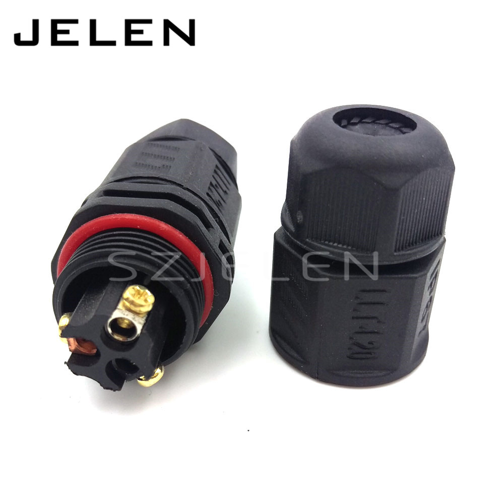 [해외]L20 3T, 3 핀 방수 커넥터, IP67, 납땜 없음, LED 전원 커넥터, 실외 와이어 커넥터 3 핀/L20 3T, 3 pin Waterproof  connector,IP67, No soldering, LED power connector, outdoor w