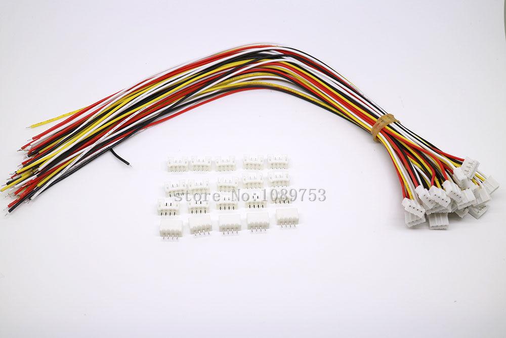 [해외]20 SETS Mini Micro JST 2.0 PH 4 핀 커넥터 플러그 와이어 케이블 300MM/20 SETS Mini Micro JST 2.0 PH 4-Pin Connector plugWires Cables 300MM