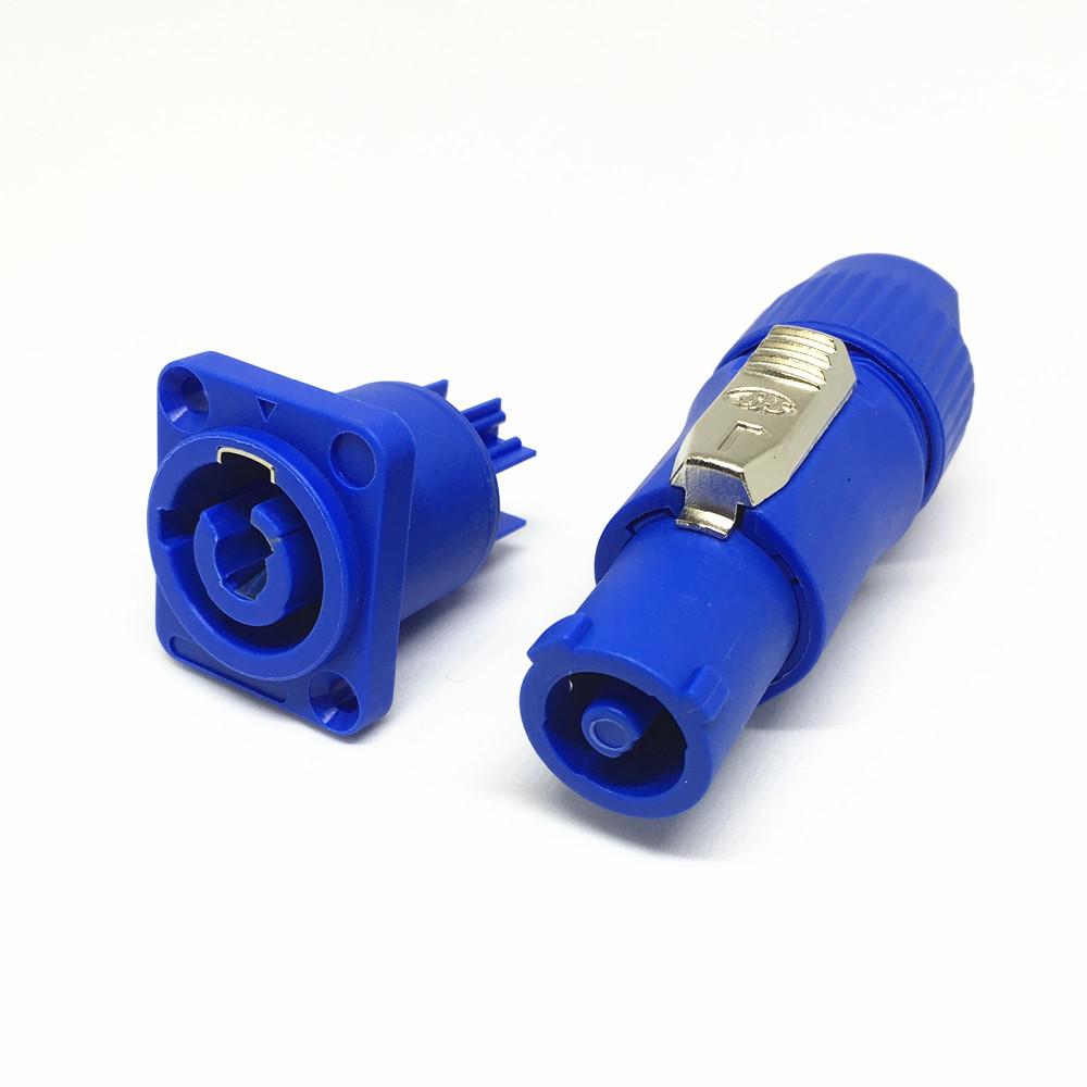 [해외]10 핀 3 핀 Blue Neutrik PowerCON Type A NAC3FCA + NAC3MPA-1 섀시 플러그 패널 어댑터/10Set  3 Pin Blue Neutrik PowerCON Type A NAC3FCA+NAC3MPA-1 Chassis Plug P