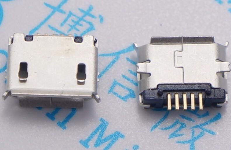 [해외]100pcs 마이크로 USB 여성 소켓 5pin SMD 긴 바늘 휴대 전화 충전 구리 포트 MK5P 미니 usb 커넥터 /100pcs micro USB female socket 5pin SMD Long needle For Mobile Phone Charging