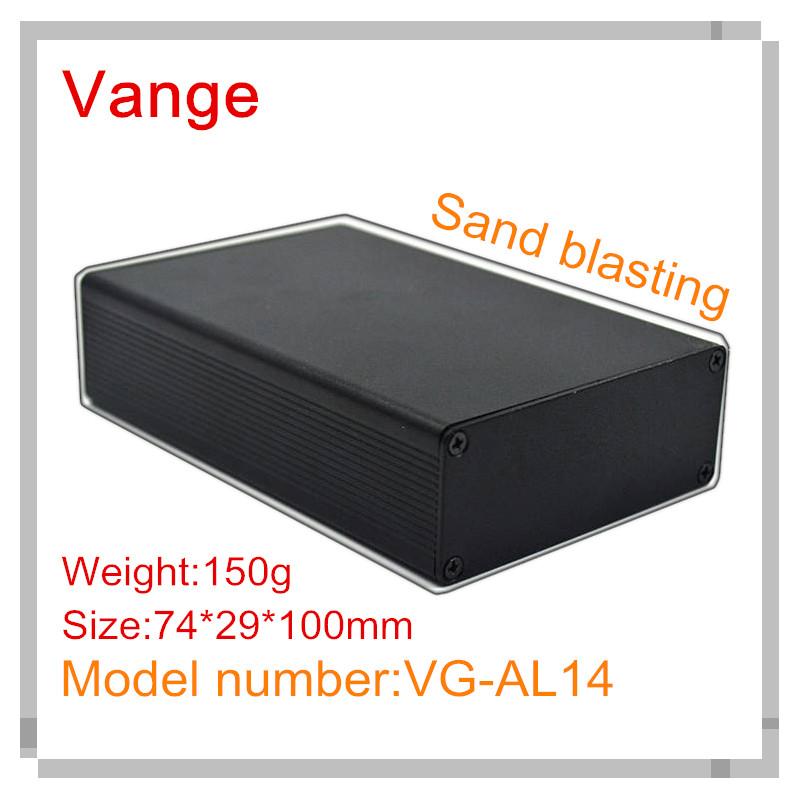 [해외]1pcs / lot 모래 발파 검은 알루미늄 DIY 인클로저 6063-T5 알루미늄 프로젝트 상자 74 * 29 * 80mm wifi 장비에 대 한/1pcs/lot sand blasting black aluminum diy enclosure 6063-T5 alu
