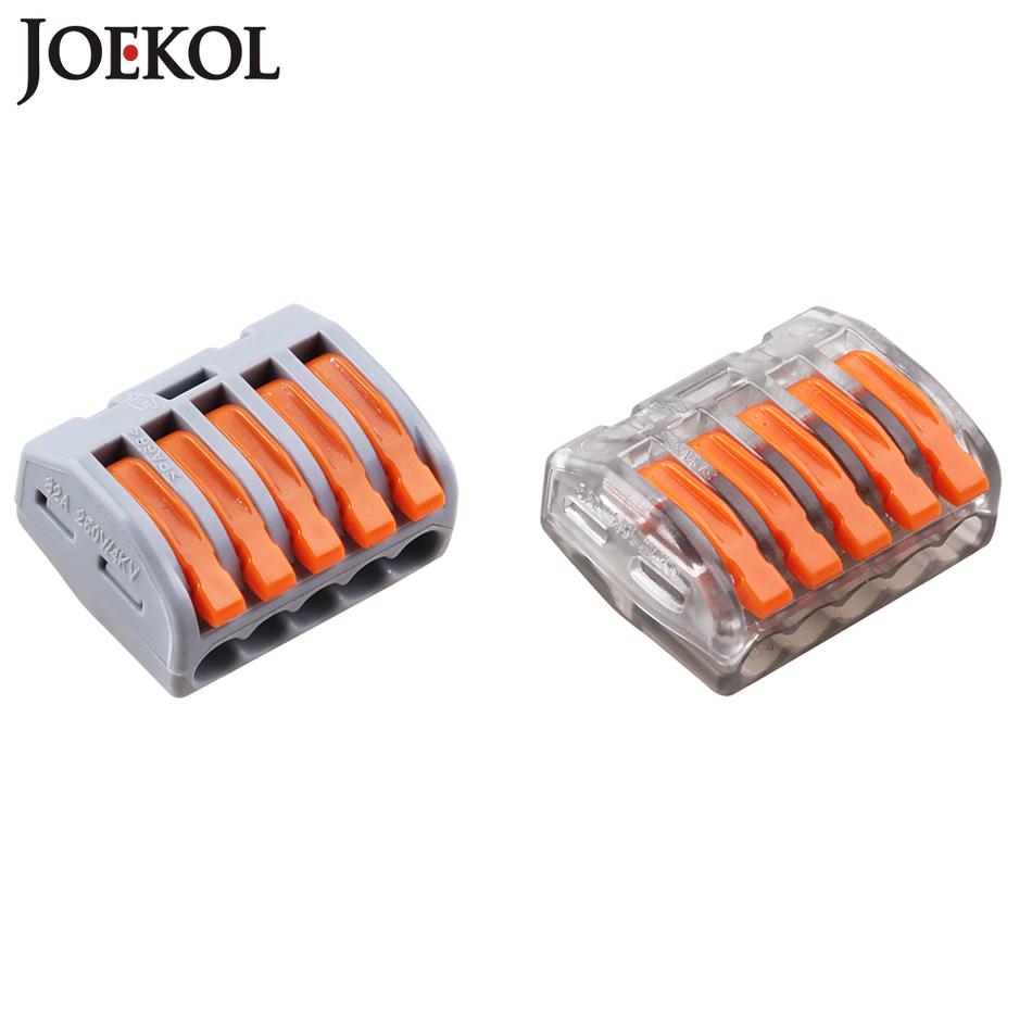 [해외](10pcs / lot) Wago 5P 유니버셜 소형 와이어 커넥터 도체 터미널 블록 222-415 PCT-215 유형/(10pcs/lot) Wago 5P Universal Compact Wire Connector Conductor Terminal Block 2