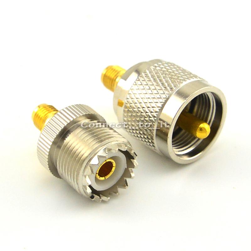 [해외]PL259 SMA 암 골드 도금 된 UHF Female & amp; UHF Male 대 SMA Female RF 어댑터 Nickelplated SMA Connector UHF 어댑터/PL259 SMA Female Goldplated to UHF Femal