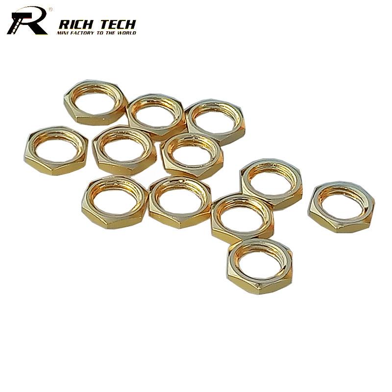 [해외]SMA RF 동축 커넥터에 대한 50pcs / lot 골드 도금 SMA 나사 너트 새로운/50pcs/lot  Gold Plated SMA Screw Nut for SMA RF Coaxial Connector Wholesale Brand New