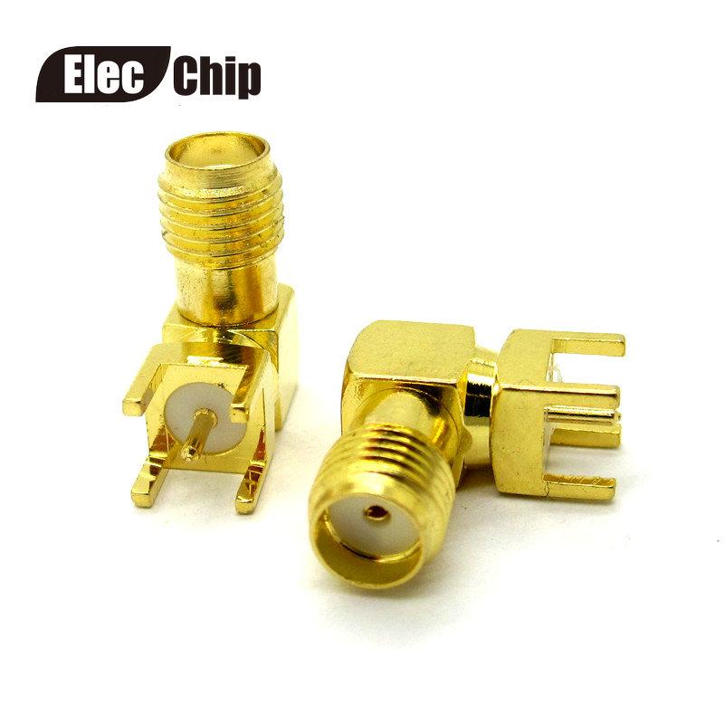 [해외]5PCS SMA 암 스루 홀 플러그 직각 90 ° (SMA-KWE) PCB 마운트 커넥터 RF 어댑터/5PCS SMA female Thru Hole plug Right Angle 90 DEGREE ( SMA-KWE ) PCB Mount connector RF a