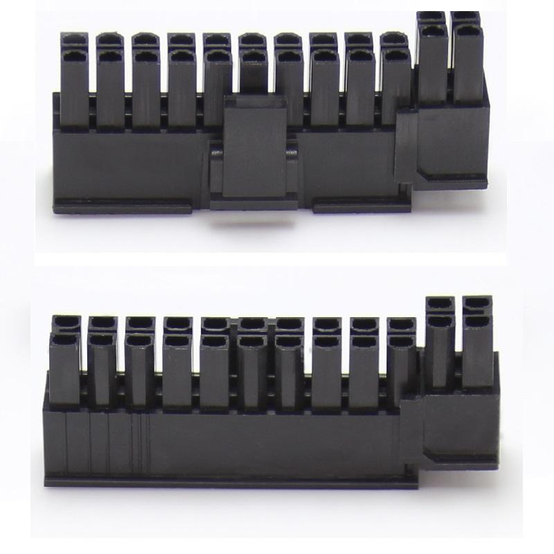 [해외]5 개 5557 4.2 mm 24 핀 (20 + 4) 위치 남성 하우징 플러그 컴퓨터 ATX 전원 커넥터 플라스틱 쉘 슬라이드 레일 설계/5pcs 5557 4.2 mm 24 pin ( 20 + 4) Position Male housing Plug Computer