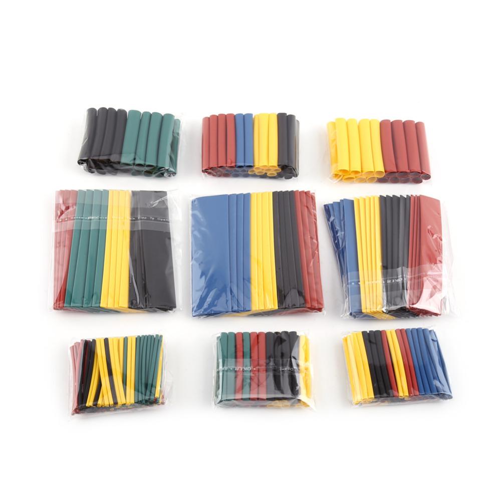 [해외]328pcs / Lot 혼합 색상 2 : 1 열 수축 랩 슬리브 튜브 튜브 슬리브 와이어 케이블/328pcs/Lot Mixed Color 2:1 Heat Shrink Wrap Sleeves Tubing Tube Sleeving Wire Cable