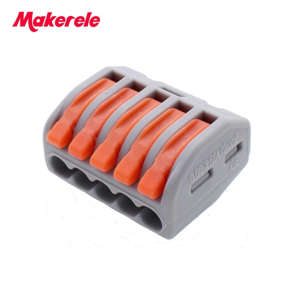 [해외]25 개 WAGO 2PCT215 범용 컴팩트 와이어 배선 커넥터 5 핀 컨덕터 단자 BlockLever 0.08-2.5mm2/25 pcs WAGO 2PCT215 Universal Compact Wire Wiring Connector 5 pin Conductor
