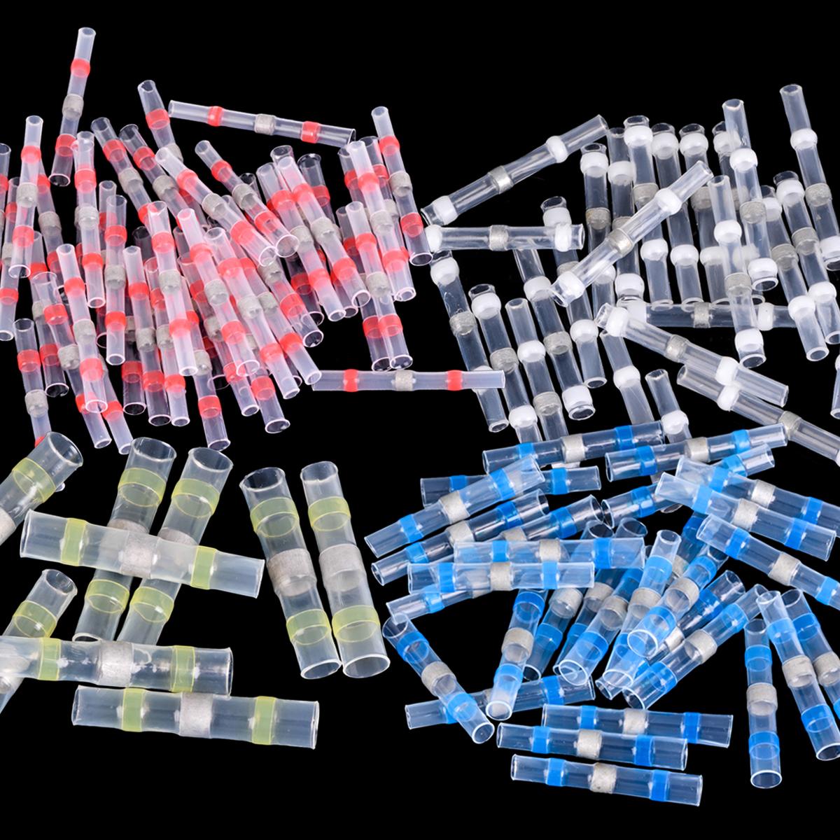 [해외]100pcs 열 수축 버트 와이어 스플 라이스 커넥터 방수 26-10 AWG 솔더 슬리브 커넥터 키트/100pcs Heat Shrink Butt Wire Splice Connector Waterproof 26-10 AWG Solder Sleeve Connecto