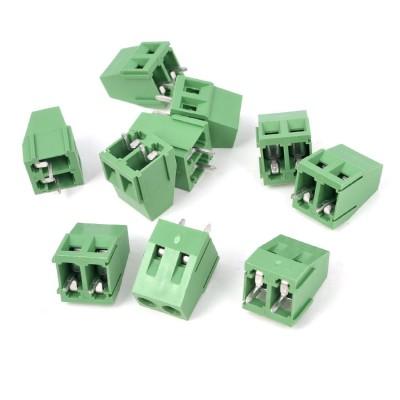 [해외]10pcs 300V 10A 2P 핀 PCB 스크류 터미널 블록 커넥터 5mm 피치 그린/10pcs 300V 10A 2P Pins PCB Screw Terminal Block Connector 5mm Pitch Green