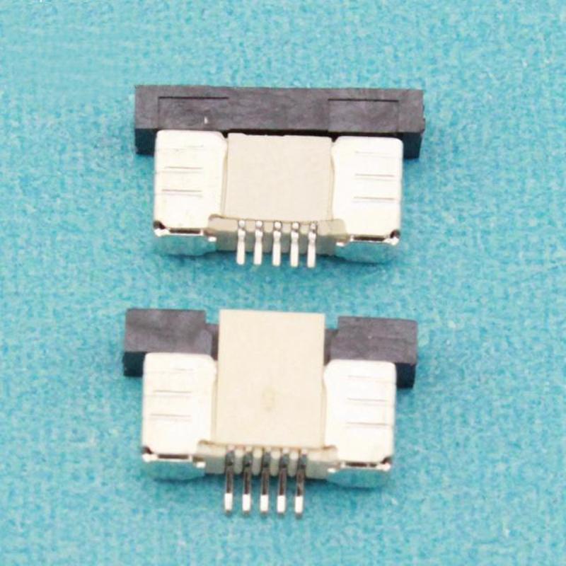 [해외](100PCS / 많은) 0.5mm의-5P 최대 서랍 모드 피치 0.5mm의 5 핀 FFC FPC 커넥터 소켓/(100Pcs/lot) 0.5mm-5P Up Drawer Mode Pitch 0.5mm 5Pin  FFC FPC Connector Socket Whol