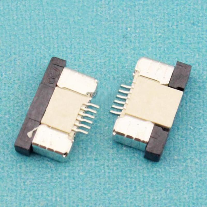 [해외](100PCS / 많은) 0.5mm의-6P 최대 서랍 모드 피치 0.5mm의 6 핀 FFC FPC 커넥터 소켓/(100Pcs/lot) 0.5mm-6P Up Drawer Mode Pitch 0.5mm 6Pin FFC FPC Connector Socket Whole