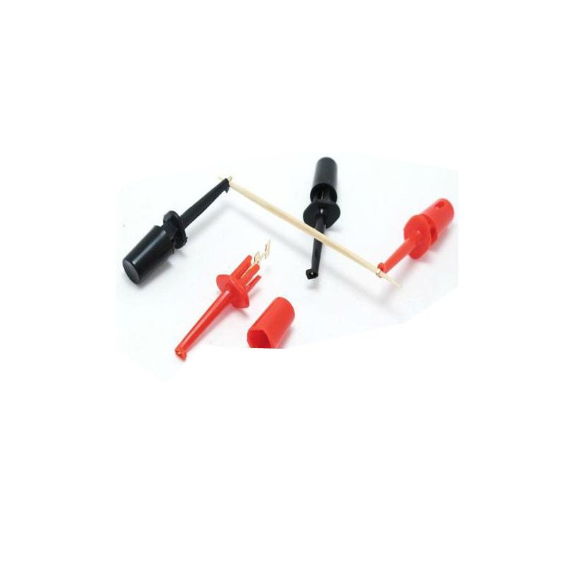 [해외]20pcs / lot 42mm 소형 테스트 클립 테스트 후크 색상 레드 / 블랙/20pcs/lot 42mm Small Size Test Clip Test Hook Color Red/Black