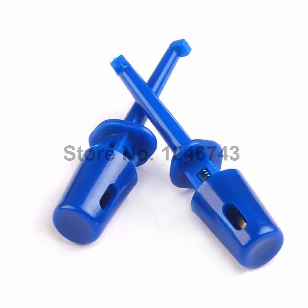 [해외]20PCS 블루 멀티 미터 리드 와이어 키트 테스트 후크 클립 그래버 테스트 프로브 SMT / SMD IC D20 케이블 용접/20PCS Blue Multimeter Lead Wire Kit Test Hook Clip Grabbers Test Probe SMT/
