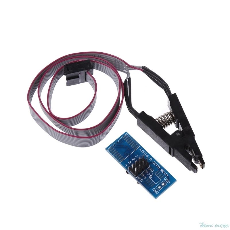 [해외]EEPROM 용 SOIC8 SOP8 테스트 클립 93CXX / 25CXX / 24CXX 인서 킷 프로그래머/SOIC8 SOP8 Test Clip for EEPROM 93CXX/25CXX/24CXX In-circuit Programmer