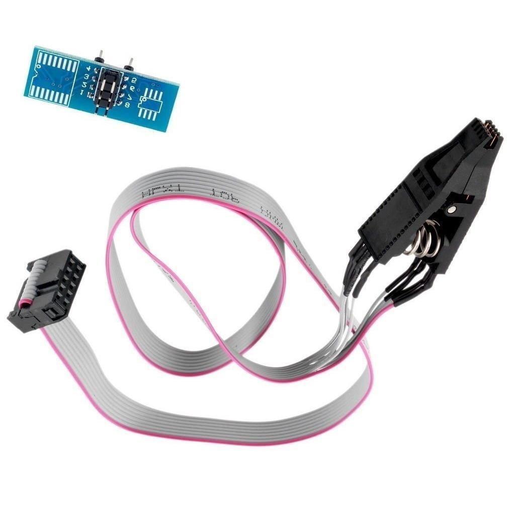 [해외]NFLC-SOIC8 SOP8 플래시 칩 IC 테스트 클립 소켓 어댑터 프로그래머 BIOS / 24 / 25 / 93/NFLC-SOIC8 SOP8 Flash Chip IC Test Clips Socket Adapter Programmer BIOS/24/25/93