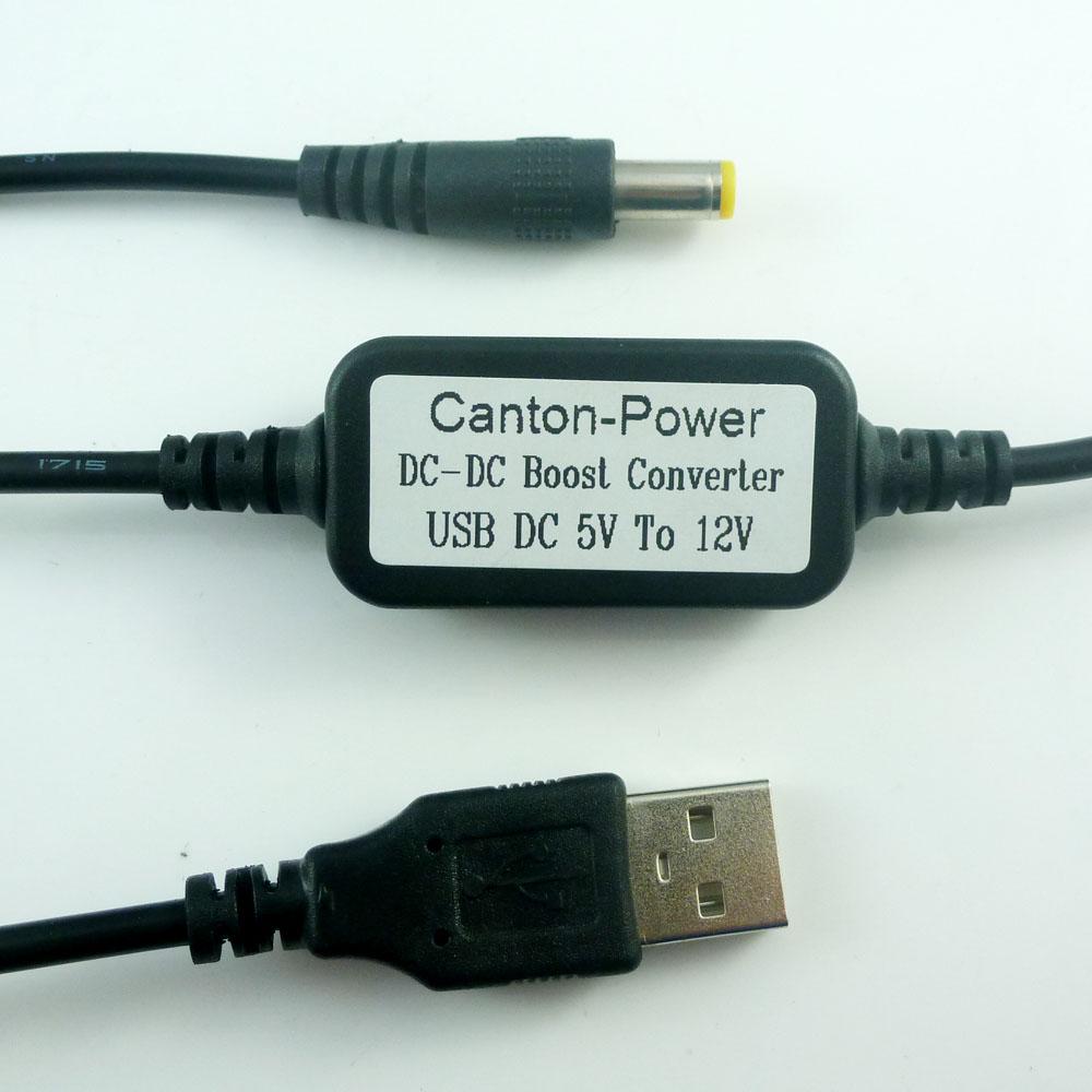 [해외]DC 5.5 DC 5V TO 12V의 USB * 2.1MM 케이블 DC-DC 부스트 Conerter 스텝 업 전압 전원 공급 장치 모듈을 와이파이 라우터 모바일 전원에 대해/DC 5V TO 12V USB to DC 5.5*2.1mm Cable DC-DC Boos