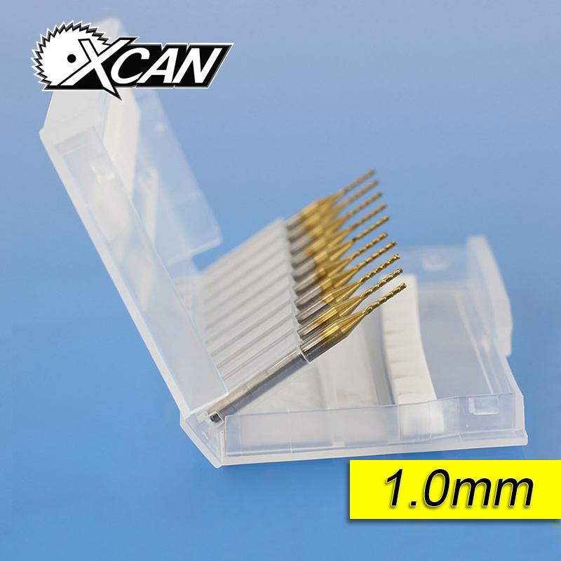 [해외]10pcs 3.175 * 1.0 * 7MM 티타늄 코팅 초경 엔드 밀링 커터 조각 에지 커터 CNC 라우터 비트 PCB 기계/10pcs 3.175*1.0*7MM Titanium Coated Carbide End Milling Cutter Engraving Edg