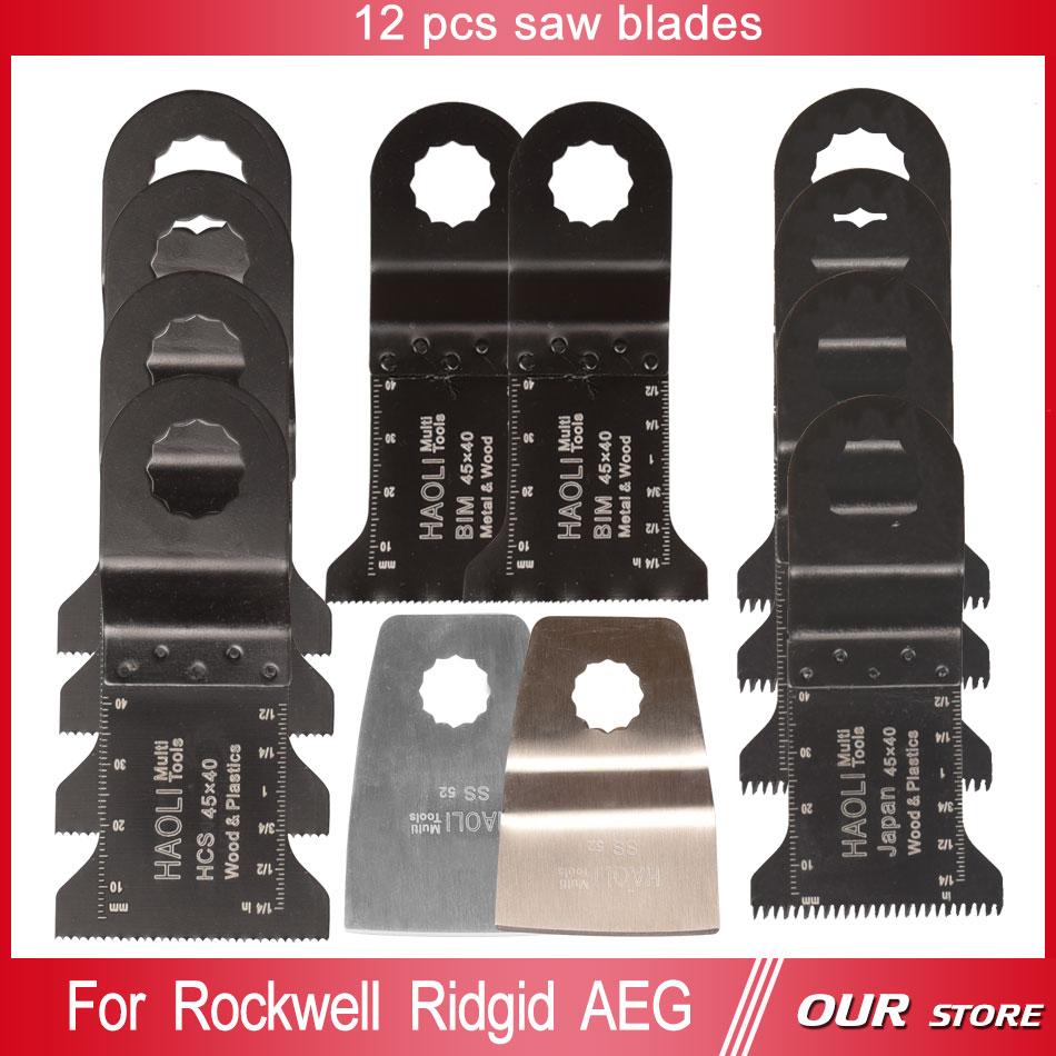 [해외]12 개 진동 무티 도구를 혼합 플러시 절단 칼날 스크레이퍼로, RIDGID, WORX Sonicrafter, AEG, DIY 등 전동 공구 용 톱날/12 pcs Mix oscillating muti tool saw blades for power tools as