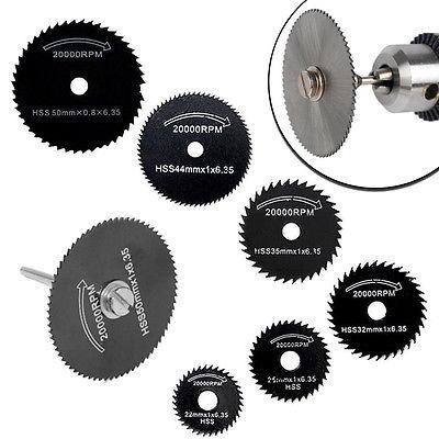 [해외]6Pcs HSS 톱날 커팅 디스크 휠 + 금속 용 1 맨드릴 Dremel 로타리 공구 H02/6Pcs HSS Saw Blades Cutting Discs Wheel + 1 Mandrel For Metal Dremel Rotary Tool H02