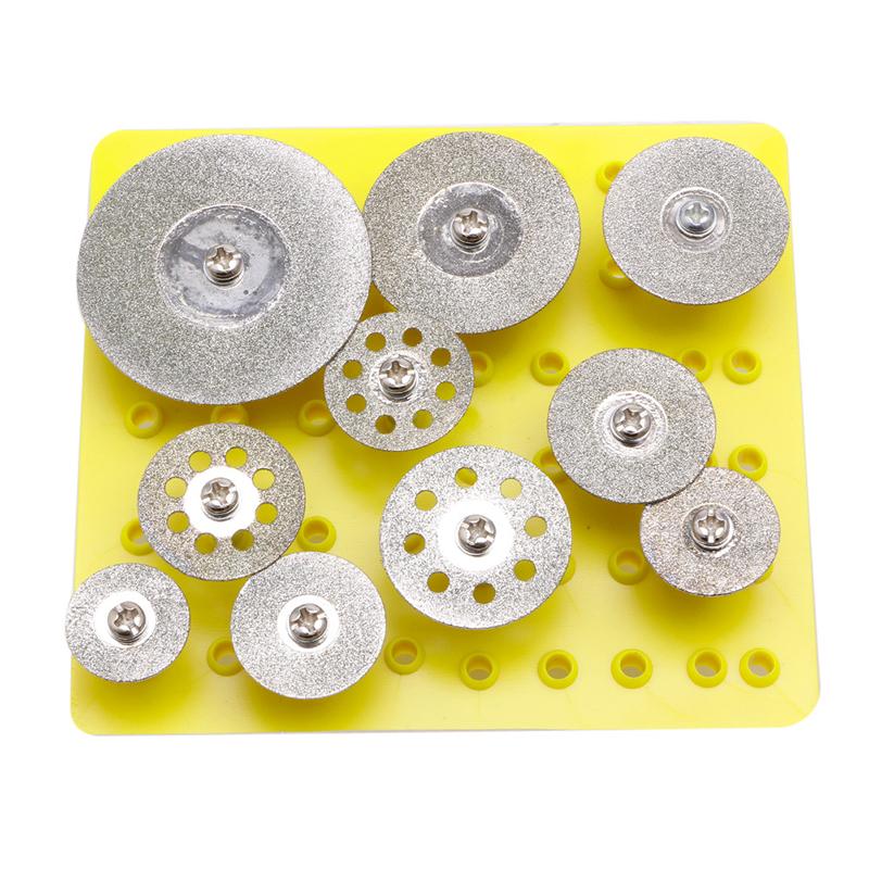[해외]10Pcs 1 / 8 & 미니 다이아몬드 커팅 디스크 로타리 미니 드릴 절단 휠 H02/10Pcs 1/8&& Mini Diamond Cutting Disc For Rotary Mini Drills Cut Off Wheel  H02
