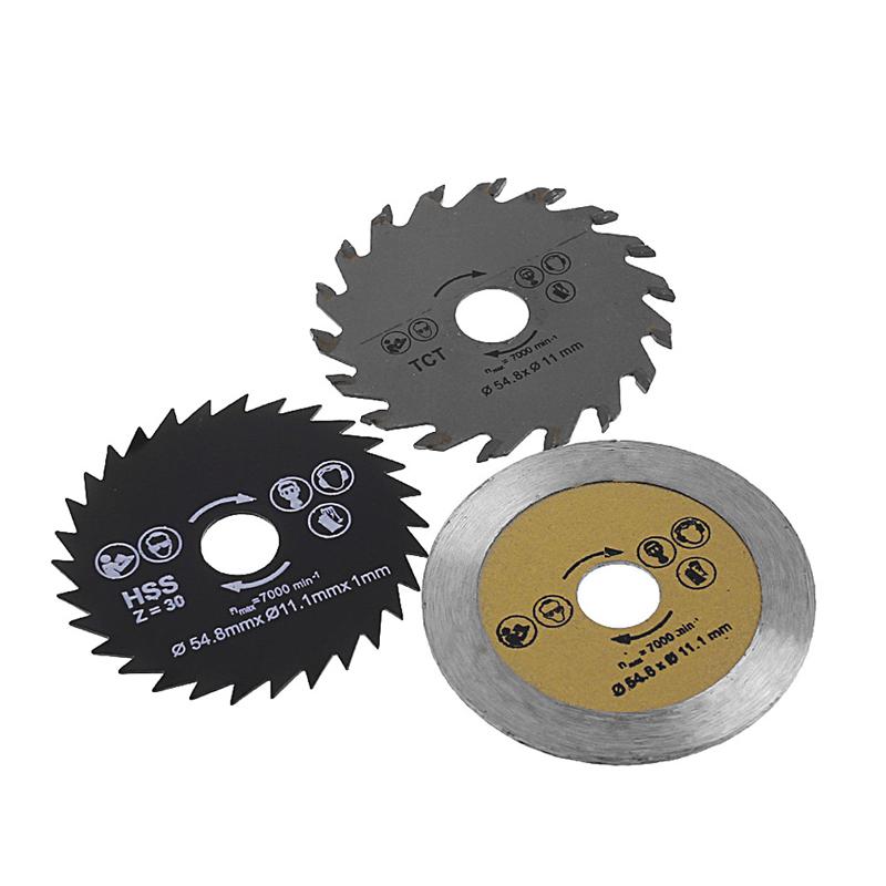 [해외]3 Pcs 원형 톱 블레이드 절단 디스크 HSS 커터 디스크 미니 드릴 도구 나무 드릴 도구 외경 54.8mm/3 Pcs Circular Saw Blade Cutting Disc HSS Cutter Disc for Mini Drill Tools Wood Dril