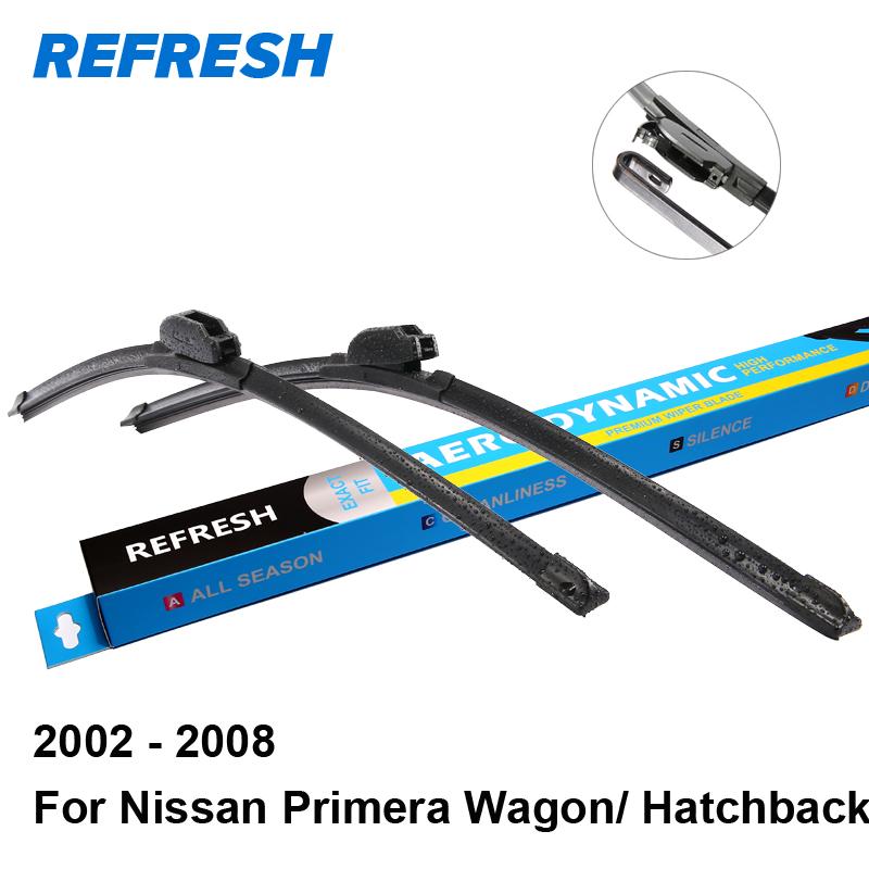 [해외]닛산 프리메라 P12 왜건 / 해치백 (26) && A에 대한 와이퍼 블레이드를 새로 고침; 19 & 맞춤 후크 무기 2003 년 2004 년 2005 년 2006 년 2007 년 2008 년 2002/Refresh Wiper Blades
