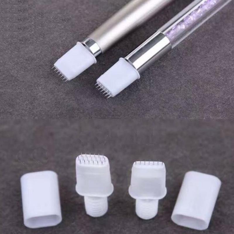 [해외]5 쌍의 바늘 바늘 없음 19 핀 7 개의 수동 펜용 핀 7 개의 핀 블레이드 영구적 인 영구 화장 안개 마이크로 블레이드 눈썹 문신 3D 자수/5 Pair No Scab Needles 19 Pins 7 Pins Blades for Manual Pen Semi