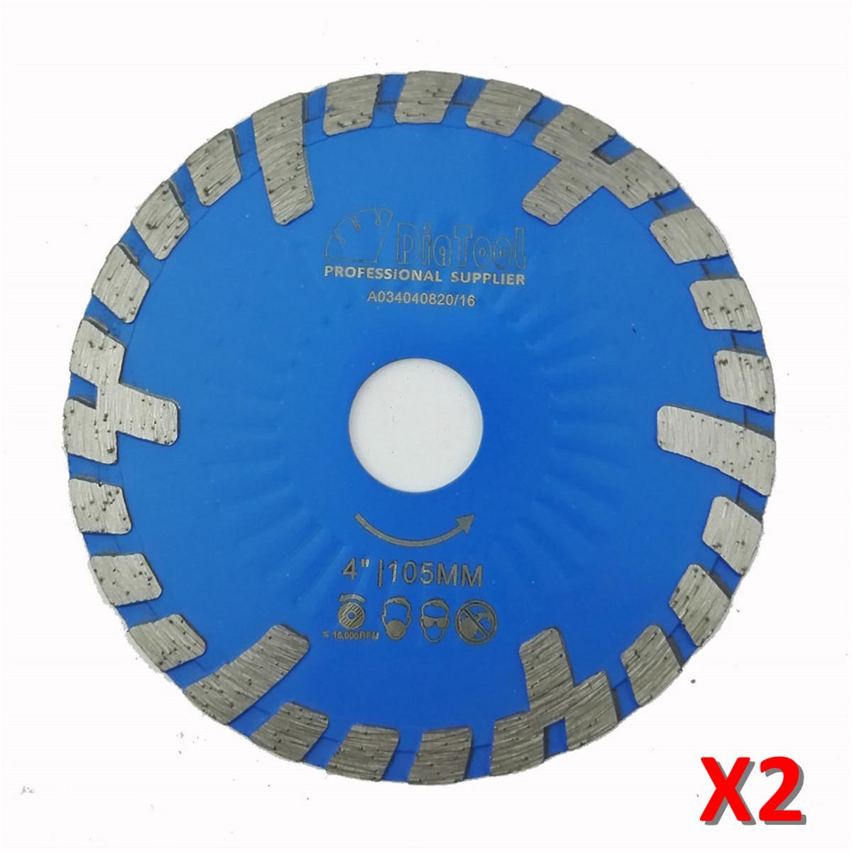 [해외]2pcs 돌 & amp;를105mm Hot 눌러 진 다이아몬드 터보 BladeSlant 보호이 4 & 다이아몬드 잎; 콘크리트 절단/2pcs 105mm Hot pressed Diamond turbo BladeSlant protection teeth