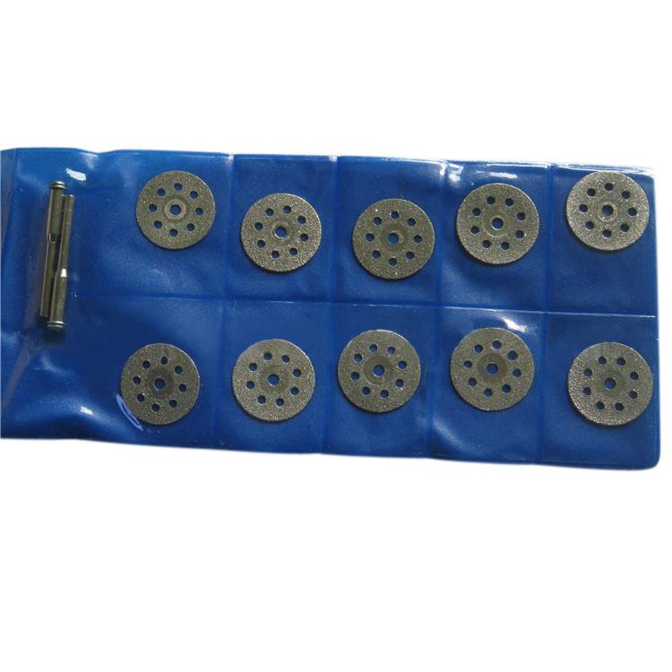 10 개/대 22mm 미니 다이아몬드 톱 블레이드 실버 커팅 디스크 유리 락 lapidary 로타리 도구 dremel 드릴 적합 로타리 도구