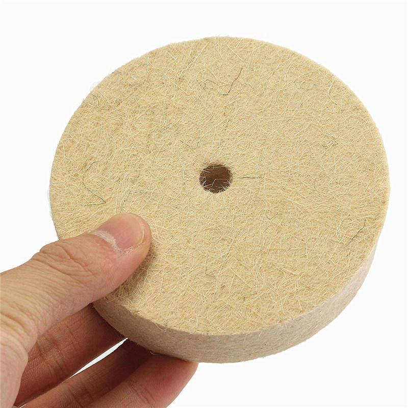 [해외]1Pc 4 인치 연마 버핑 연마 휠 양모 펠트 폴리 셔 디스크 패드 100mmx25mm 폴리 셔 패드 4 인치/1Pc 4Inch Polishing Buffing Grinding Wheel Wool Felt Polisher Disc Pad 100mmx25mm Po