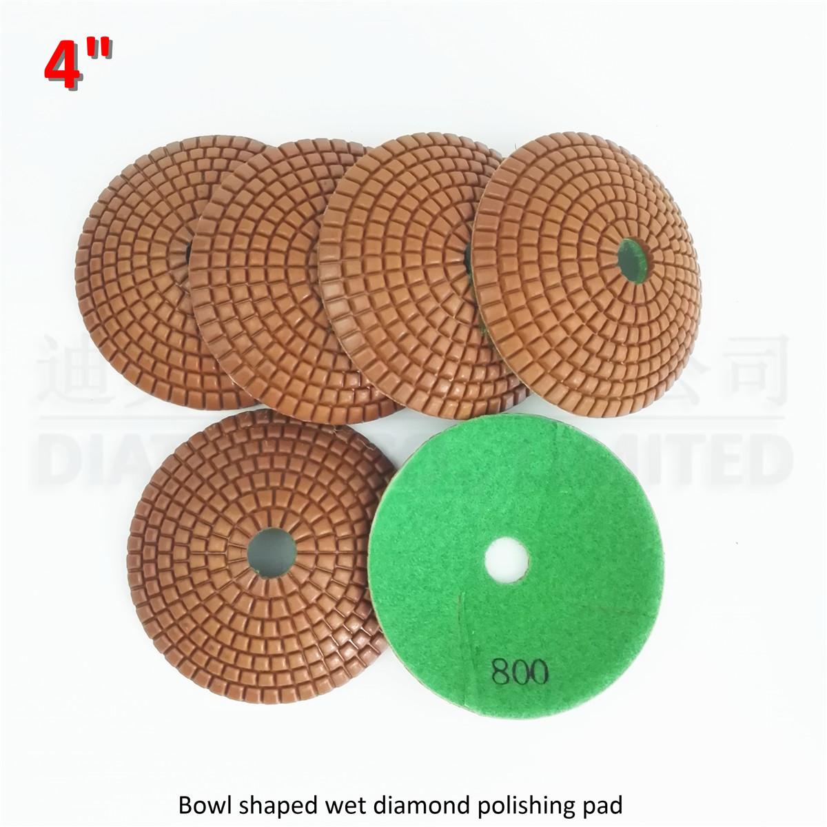 [해외]DIATOOL 화강암 대리석 타일 4 & 800 그릇 모양의 연마 패드에 대 한 6pcs 100MM 볼록 샌딩 디스크/DIATOOL 6pcs 100MM convex sanding disc  for granite marble tile 4& 800 bowl