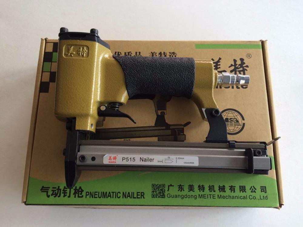[해외]공압 못 박기 총 공기 스테이플 핀 스테이플러 네일 건 사진 프레임 tacker P515 용 도구 나무 용/Pneumatic Nailer Gun Air staple pin Stapler Nail Gun Tools for photo frame tacker P515