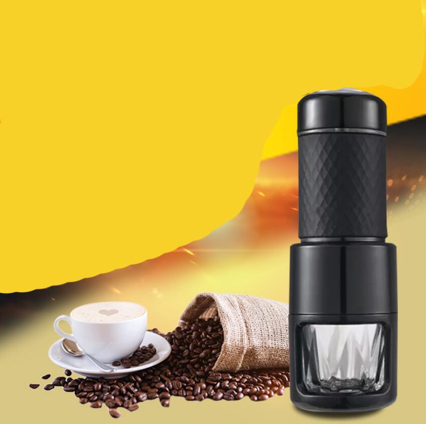 [해외]?2 세대 에스 프레소 미니 수동 캡슐 커피 기계 휴대용 야외 커피 포트/ two generation espresso mini manual capsule coffee machine portable outdoor coffee pot