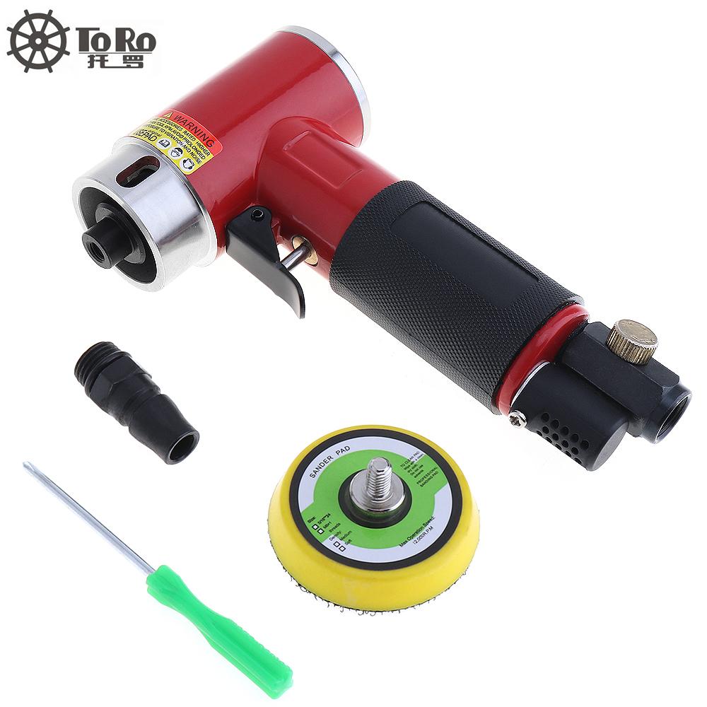 [해외]새로운 2 인치 스트레이트 하트 고속 미니 공압 Sanding MachinePush 스위치 및 샌딩 패드 연마 / 연삭/New 2 Inch Straight Heart High-speed Mini Pneumatic Sanding MachinePush Switch