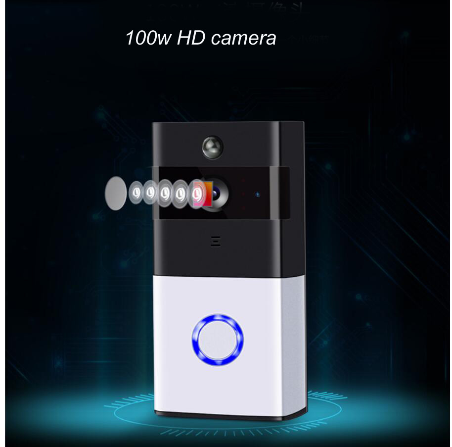 [해외]가정 보안 HD Wi-Fi Doorbell 카메라 720p 무선 가능 비디오 감시 카메라 iOS 용 스마트 홈 & amp; ? ? ???? ?? 앱/For Home Security HD Wi-Fi Doorbell Camera 720p Wireless En