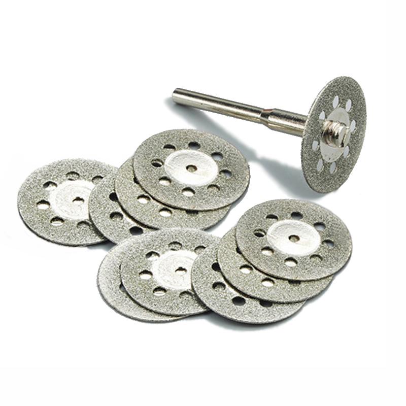 [해외]10pc 22mm 다이아몬드 공구 Dremel 로타리 도구 액세서리 세트 다이아몬드 휠 절단 디스크 유리에 대 한 연 삭 휠/10pc 22mm diamond tools Dremel Rotary Tool accessories set diamond wheel cut