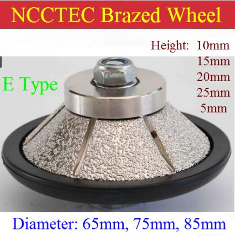 [해외]E 형 모양 [65mm * 5mm / 10mm / 15mm / 20mm 베벨] 다이아몬드 진공 브레이징 된 손 모양 윤곽 화강암 ROUTER BIT/E Type shape [65mm*5mm/10mm/15mm/20mm Bevel] diamond vacuum Bra