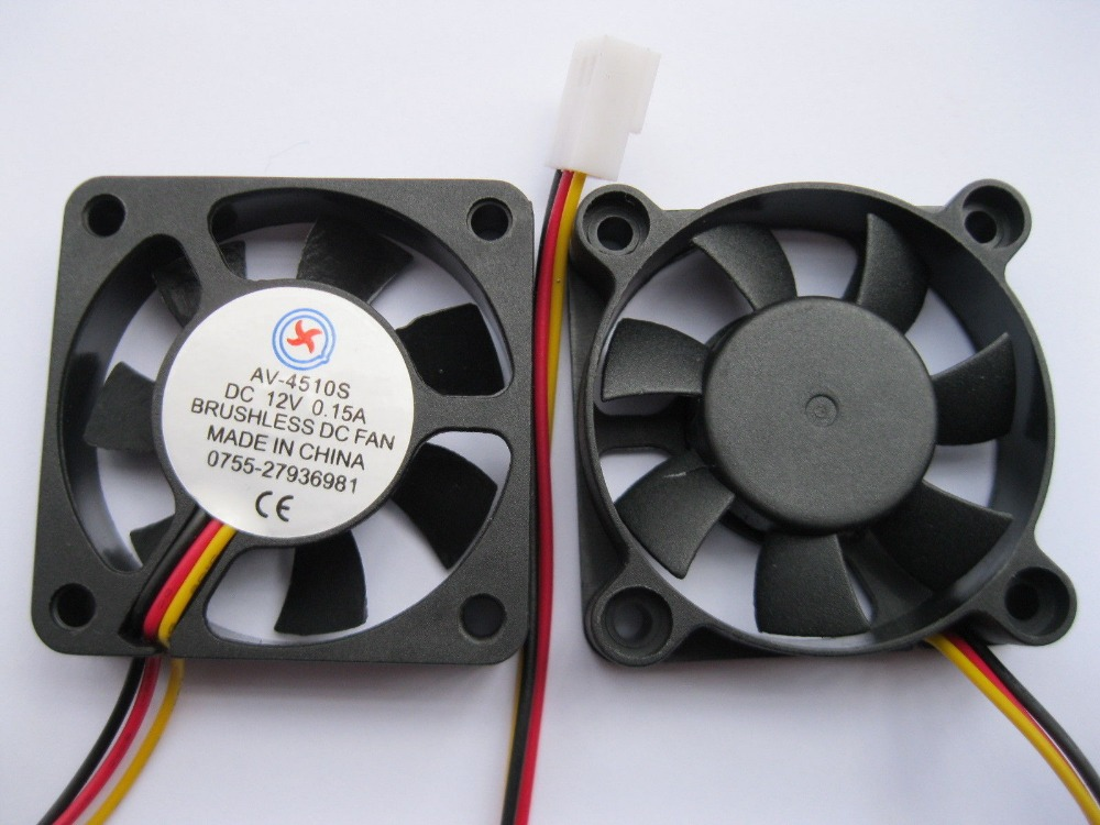 [해외]6 개 브러시리스 DC 냉각 팬 7 블레이드 12V 4510S 45x45x10mm 3 전선/6 pcs Brushless DC Cooling Fan 7 Blade 12V 4510S 45x45x10mm 3 Wires