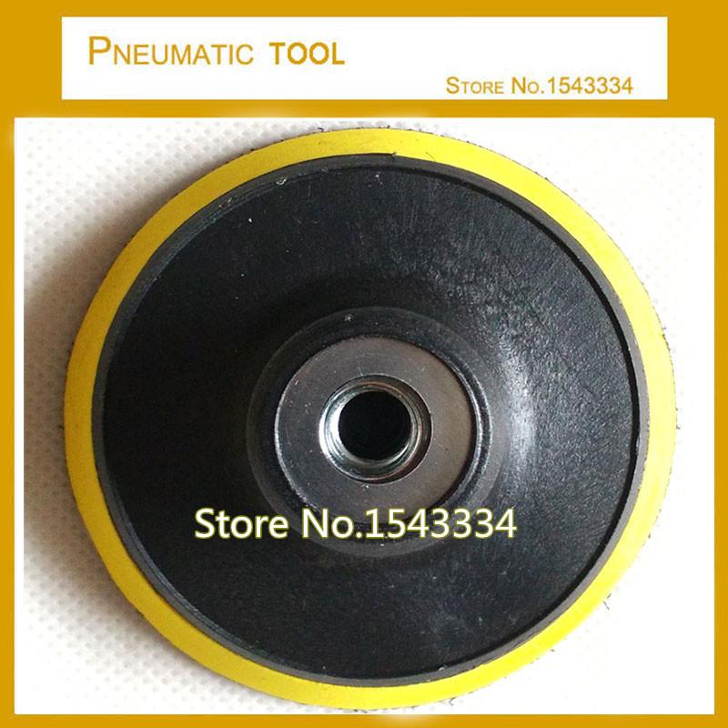 [해외]5 & ??125mm M14 폴리 셔 보닛 백킹 패드 앵글 그라인더 휠, 접착 용 샌드 페이퍼 샌딩 폴리싱 디스크/5&125mm M14 Polisher Bonnet Backing Pad Angle Grinder wheel, For adhesive Sand