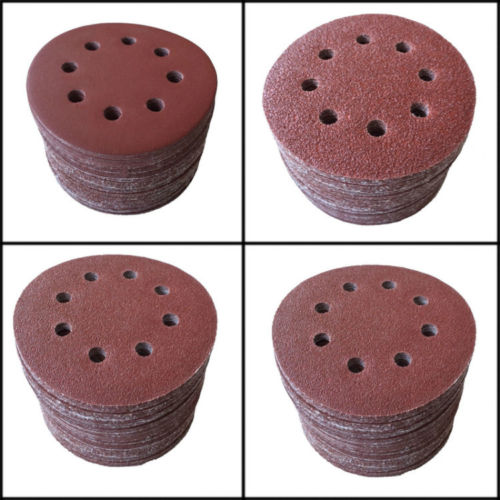 [해외]50pcs / lot 5 && 180 모래 힘 8 구멍 모래 디스크 무작위 궤도 사포 샌더 최저 가격/New Arrival  50pcs/lot 5&& 180 Grit Power 8 Hole Sand Disc Random Orbit Sandpaper