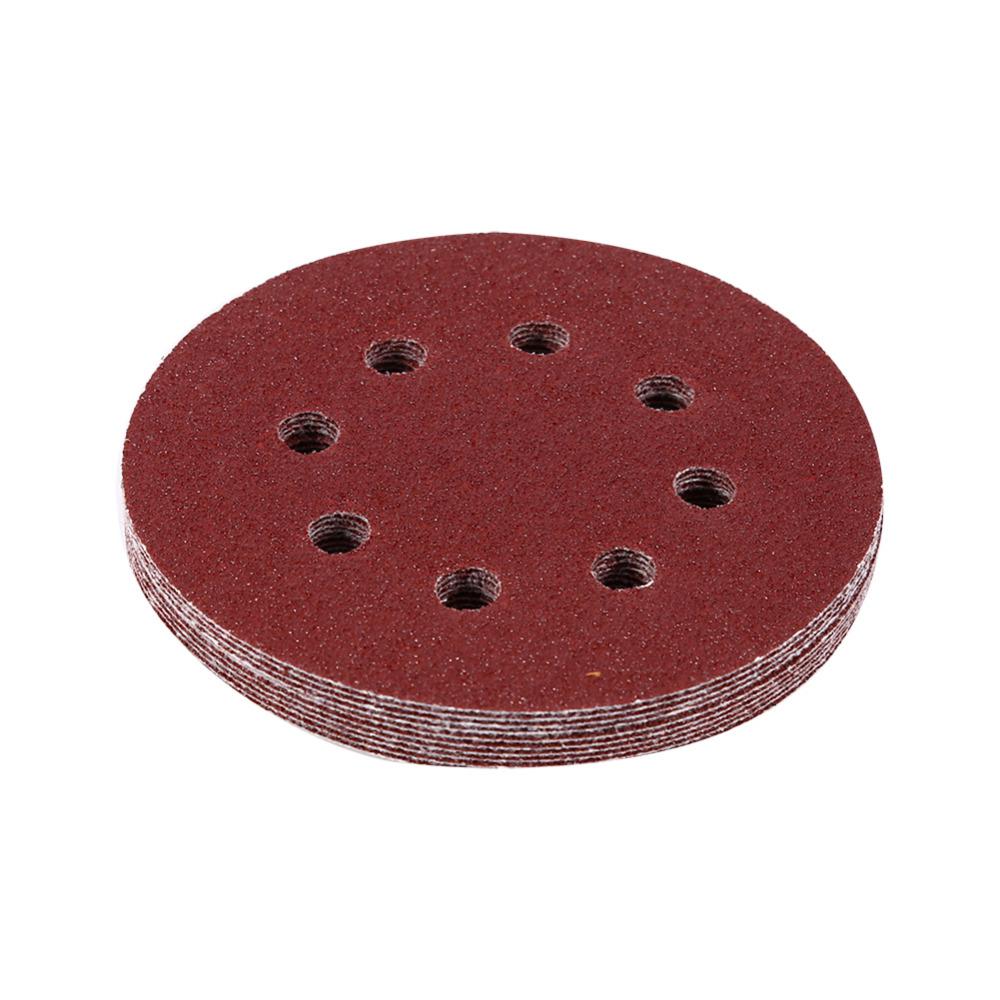 [해외]10Pcs / Lot 125mm 둥근 모양 레드 샌딩 디스크 8 홀 60-1000 그릿 샌드 페이퍼/10Pcs/Lot 125mm Round Shape Red Sanding Discs 8 Hole 60-1000 Grit Sand Papers for Your Cho