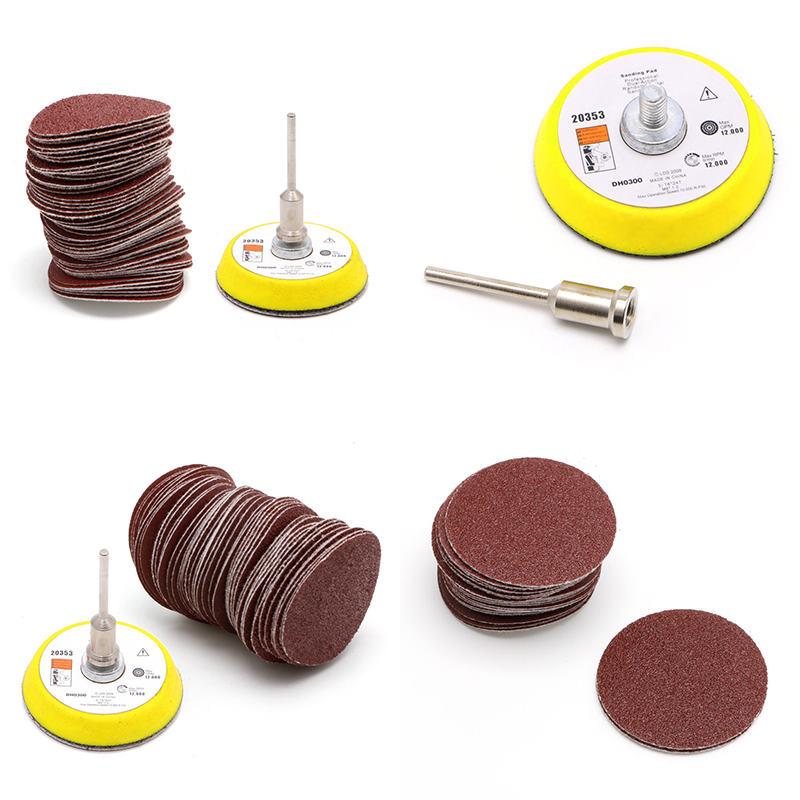 [해외]Mayitr 50pcs 2 && Sanding 디스크 60-180 Grits Sander 디스크 Sanding Pad SandpaperM6 연마 도구 용 Backer Plate/Mayitr 50pcs 2&& Sanding Disc 60-180 Gr