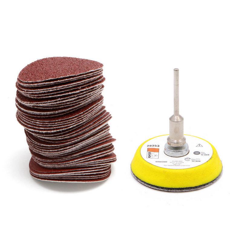 [해외]50pcs 2 && 샌딩 디스크 60-180 Grits 샌드페이퍼 Sander 디스크 Sanding PadM6 연마 도구 용 Backer Plate/50pcs 2&& Sanding Disc 60-180 Grits Sandpaper Sander Di