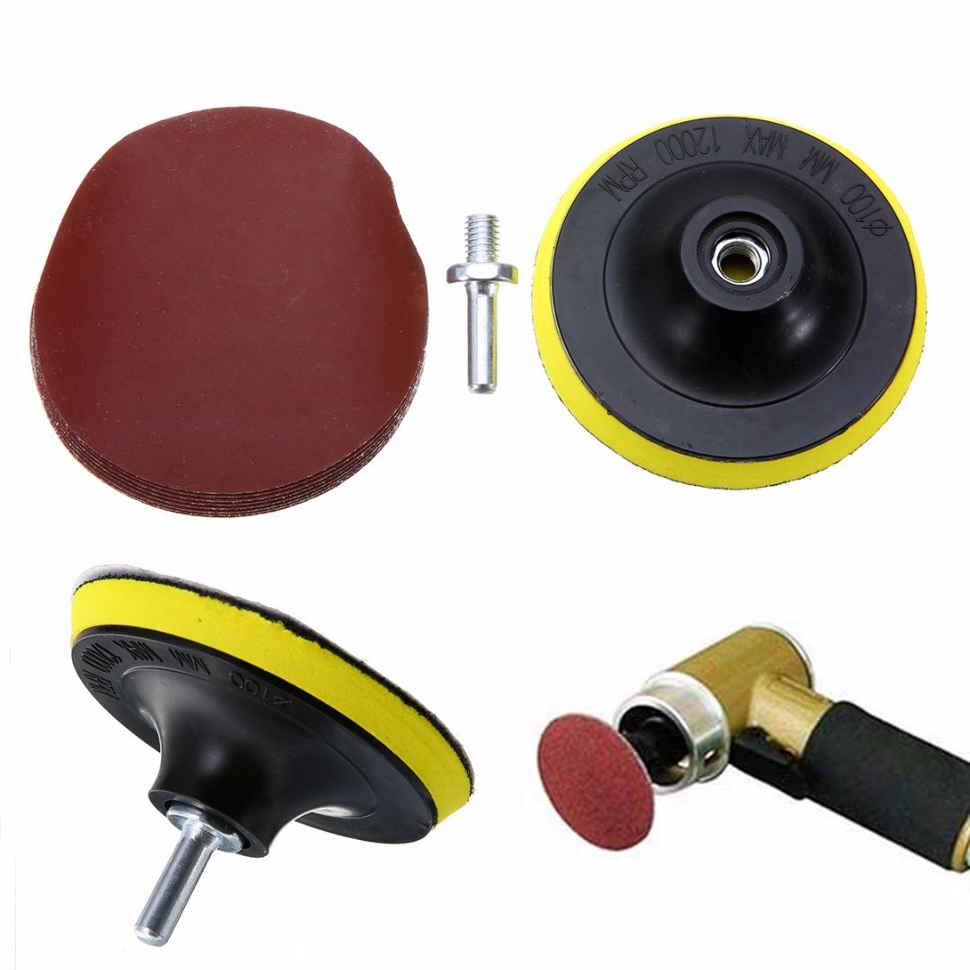 [해외]10PCS 샌딩 디스크 샌더 샌드페이퍼 1000 그 리즈 4 & 후크 루프 샌딩 후방 패드 + 샹크 어댑터 45x7mm 폴리싱 클리닝/10Pcs Sanding Disc Sander Sandpaper 1000 Grits 4& + Hook Loop Sandi
