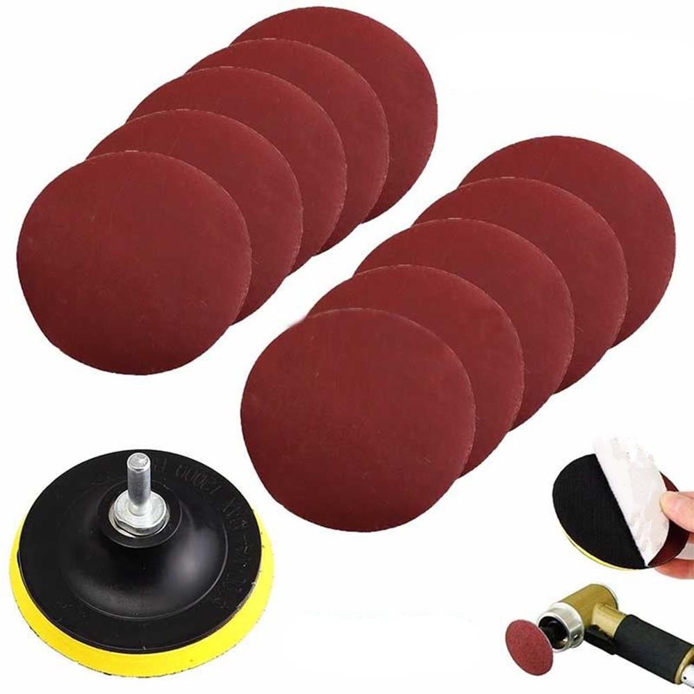[해외]10Pcs Mayitr 내구성 샌딩 디스크 샌더 1000 Grits 4 & + 후크 루프 샌딩 백커 패드 100mm + Shank 45x7mm for Polishing/10Pcs Mayitr Durable Sanding Disc Sander 1000 Gr